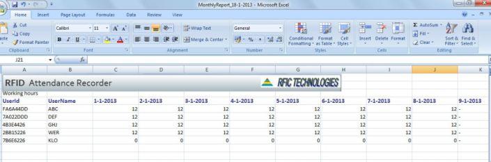 rfid-attendance-recorder-report