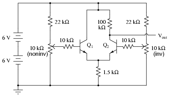 differential amplifier 1